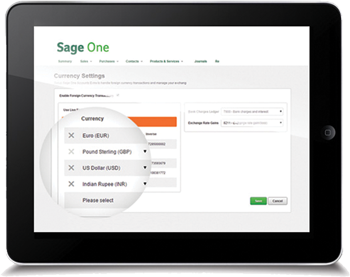 hc accountants SagePay tablet